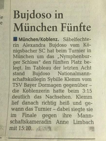 Rheinzeitung, 01.12.2015