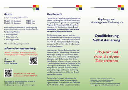 Flyer Qualifizierung Selbststeuerung - zum vergrößern bitte auf`s Bild klicken.