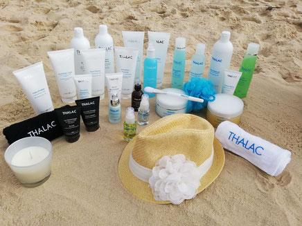 Produits cosmétiques Thalac utilisés à l'Istitut Bleu Océan Cazaux
