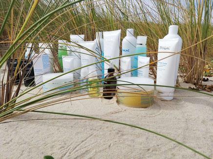Produits cosmétiques Thalac utilisés à l'Institut Blen Océan Cazaux