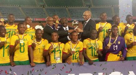 L'équipe de football du Cameroun des moins de 17 ans, championne d'Afrique 2019.
