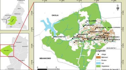 Limites et quartiers de Yaounde 7