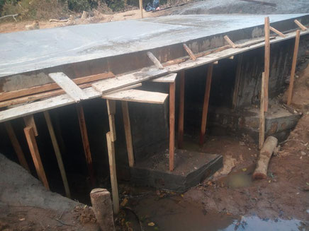 Pont construit par les populations entre Sambolabo et Galim-Tignère par les populations. Appui du PADI-EELC et la Mairie de Banyo 2018