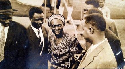 Ahidjo, Foncha et d'autres protagonistes des accords de Foumban