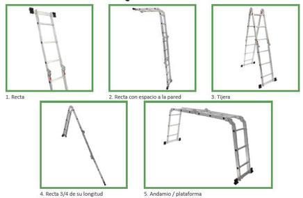 Escalera de Aluminio cinco posiciones