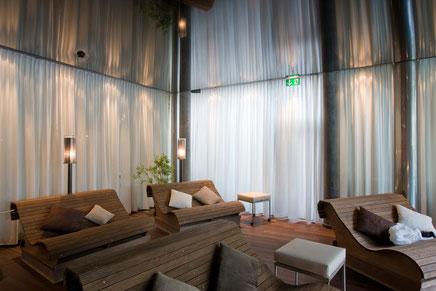 Vorhänge Silent Gliss Vorhangprofil Montage Zermatt Bittel Hotel Focus