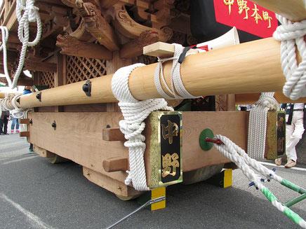 中野本町地車の車輪