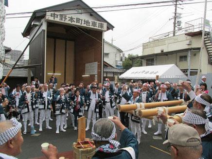 中野本町地車の出発式