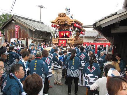 中野本町地車の出発式2014