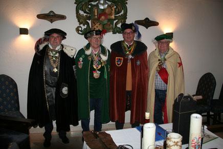 Burghard von Freisaal zue Lampoding, Hans v. Langenegg, Siegfried der Schwanburger, Gunther H.a.Kamegg