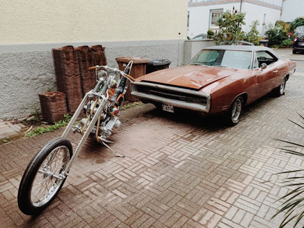 Chopper and 1970 Charger