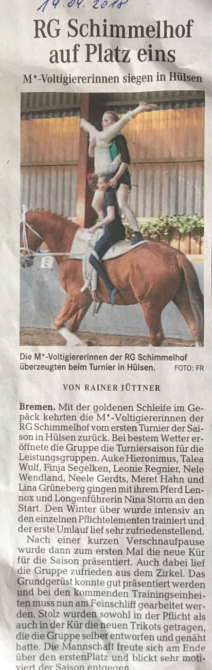 Weser Kurier - 19. April 2018