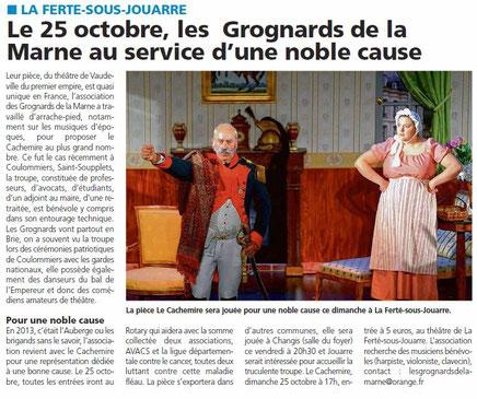 Le Pays Briard - 23 octobre 2015 -