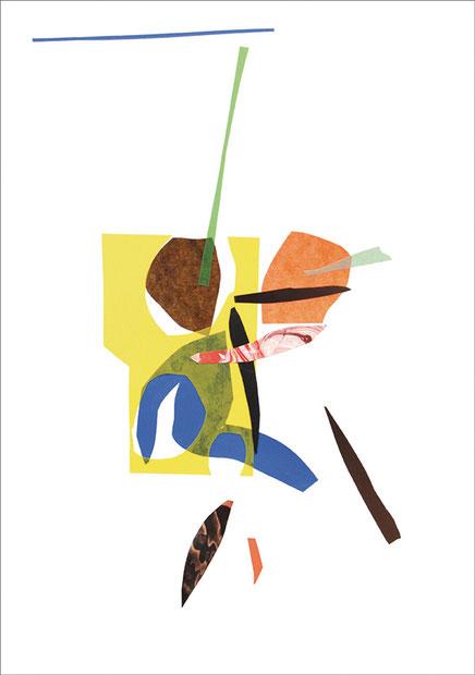 Maske mit Pony, 2013, Scherenschnitt, 20,5 x 29,7 cm