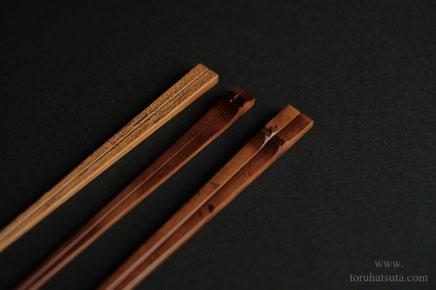 それぞれの箸の手元