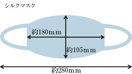 サイズ 約180mm×105mm 全長(紐も含む幅)約280mm