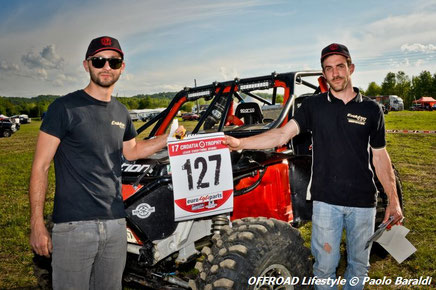 Filippo Morandini e Samuele Morganti, team Evolution 4x4, cat. Adventure