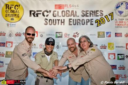 Da sinistra: Patrick Silvestri, Luis Wee, Paolo Paoletti e Furio Rossetto