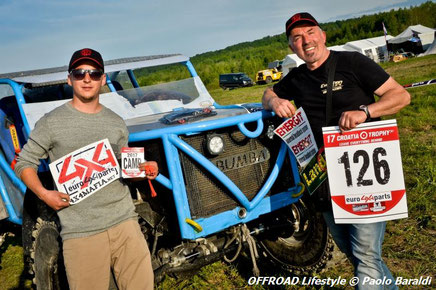 Simone Cognini e Andrea Aguzzi, team Evolution 4x4, cat. Adventure