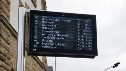 Beispielhafter TFT-Übersichtsanzeiger in Eisenach