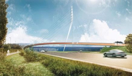 Brücke zur Landesgartenschau in Lahr (Quelle: Stadt Lahr)