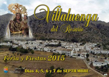 Feria y Fiestas de Villaluenga del Rosario 2015 Programa y Cartel