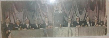 Der Elferrat der Spillmannsgasser im Gründungsjahr 1955