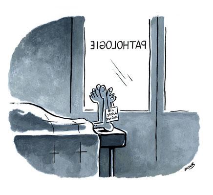 Cartoon von Mock zum Thema Pathologie