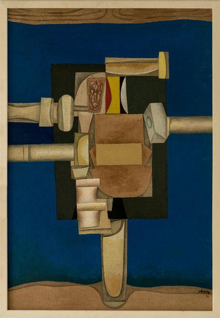 Alfred Hetz Acryl auf Holz