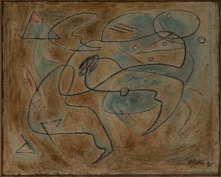 Jean Villeri abstrakte Malerei