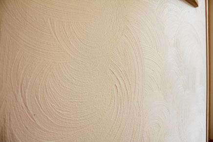 漆喰塗壁「模様仕上」