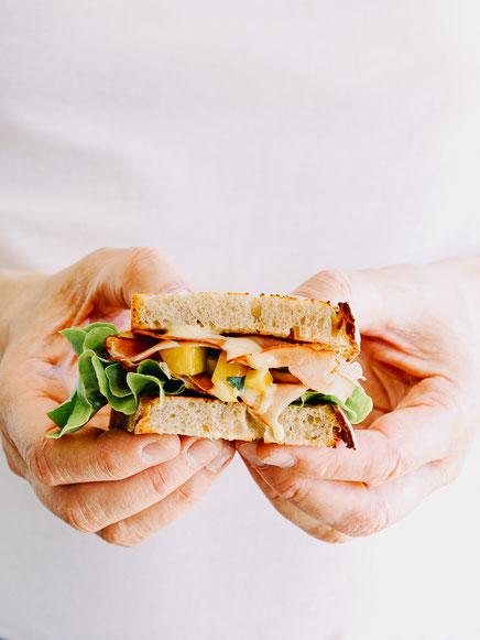 Schwarzwälder Schinken Sandwich mit Paprika Relish