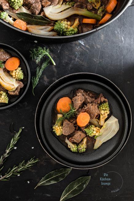 Ragout mit Romanesco, Fenchel und Karotten
