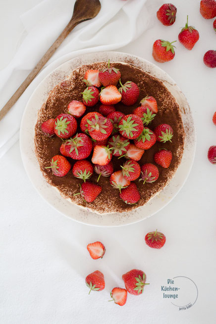 Erdbeeren Tiramisutorte