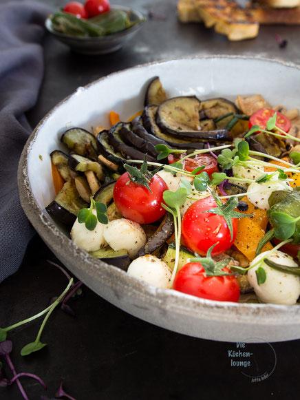 Verdura mista-gegrilltes Gemüse mit Mozzarella