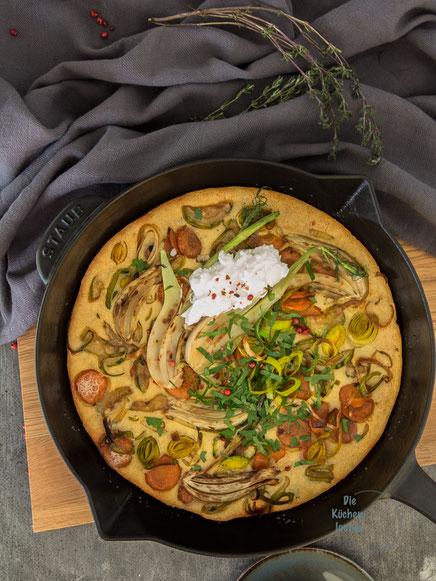 Bunte Gemüse-Frittata mit Ziegenfrischkäse