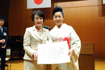 林文子横浜市長より賞状がおくられた。
