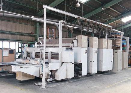 ダンボール2色複合印刷機