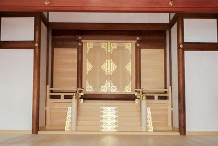 儀式殿改修工事の施工後