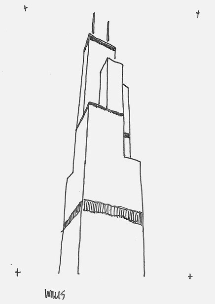 Willis Skyscraper Sketch By Heidi Mergl Architect
