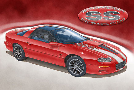 2002 Camaro SS 35th anniversary owner art print