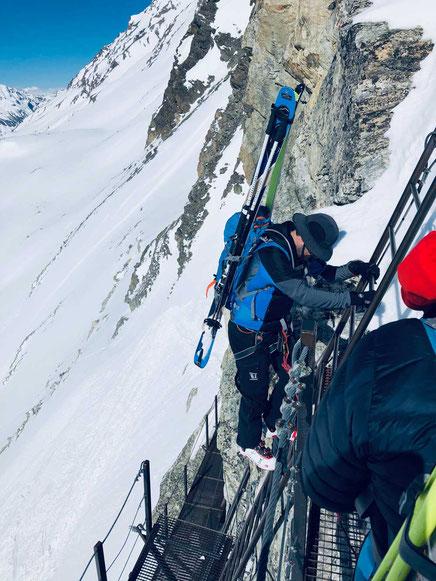 Haute Route - Leitern am Pas du Chevre