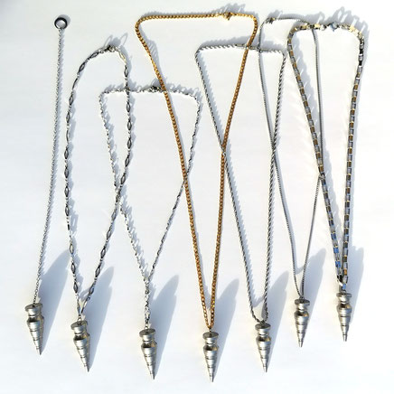 Designer Pendel komplett aus Edelstahl - Varianten auch als Halskette
