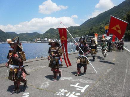 駿河湾を右手に 潮風に吹かれながらのパレード