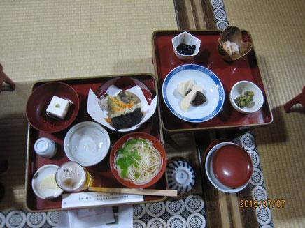 夕食の精進料理