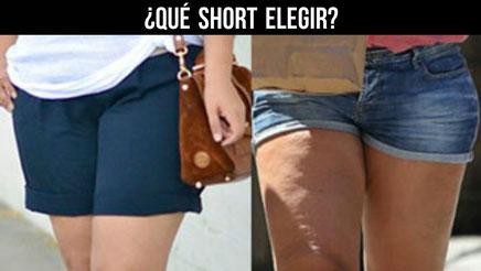 ¿Qué shorts elijó según mis piernas?