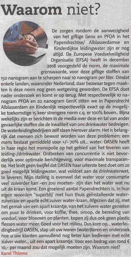 Papendrechts Nieuwsblad 13 november 2019