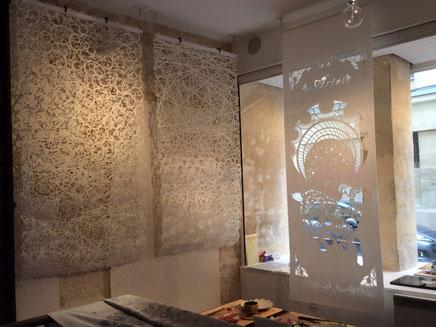 パリデザインウィーク2015に出展した商業空間を彩る手漉きの大判和紙