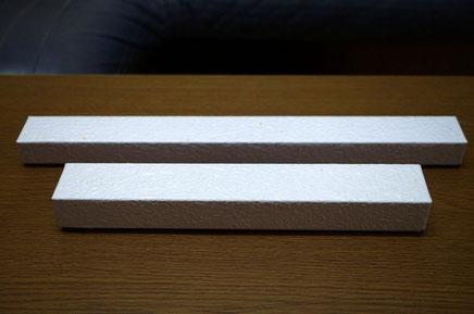 別注で作製したもみ紙の貼り箱の長箱は2種類の大きさです