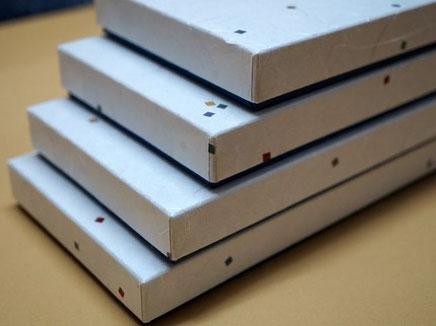 新商品の和ろうそくを収納する別注で作製した貼り箱